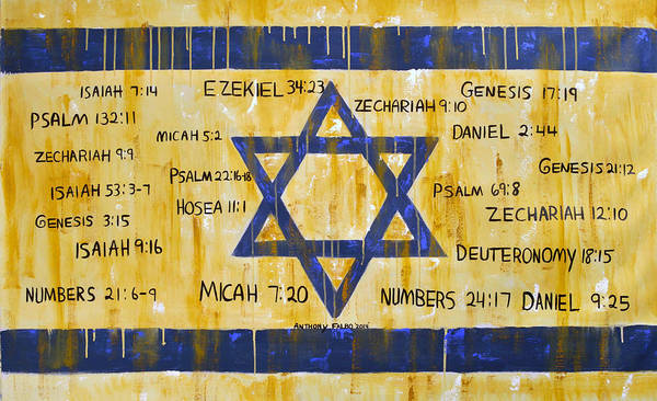Wall Art - Painting - Gods Love For Israel by Anthony Falbo