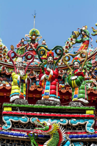 Taiwanese Wall Art - Photograph - Gods Of Fortune, Prosperity And by Jung-pang Wu