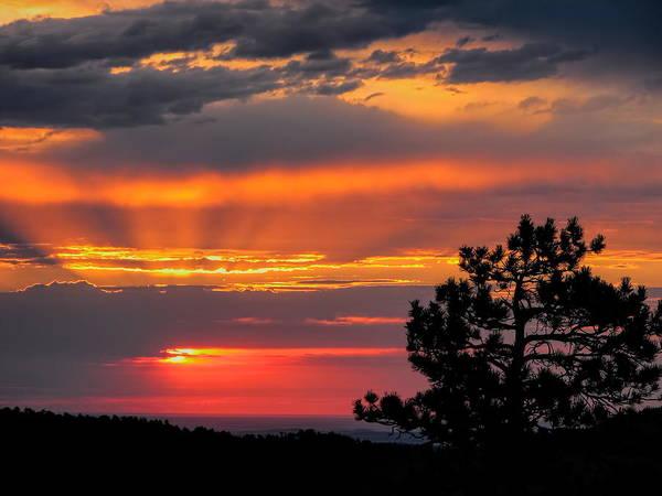 Photograph - God's Spotlight Over Keystone by Dale Kauzlaric