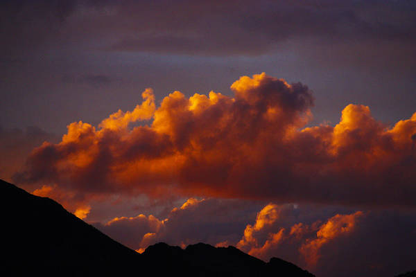 Photograph - God's Sunset Cloud by Dennis Galloway