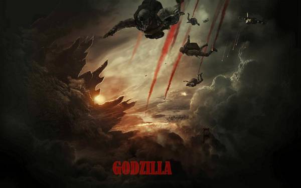 Godzilla Digital Art - Godzilla 2014 C by Movie Poster Prints