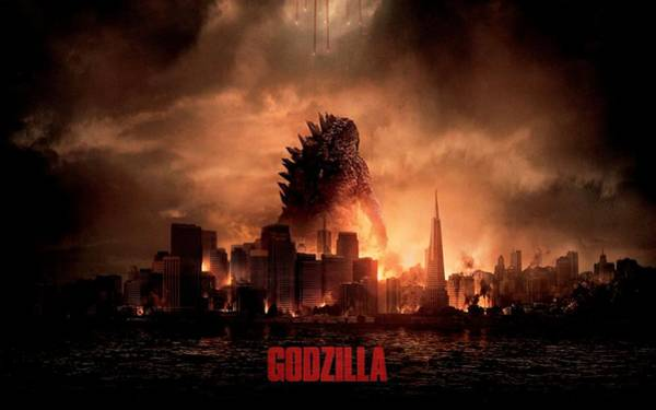 Godzilla Digital Art - Godzilla 2014 by Movie Poster Prints