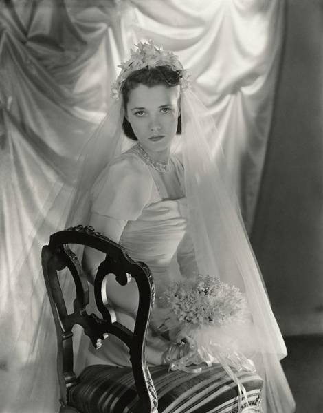 Plant Photograph - Gogo Schiaparelli In Her Wedding Dress by Horst P. Horst