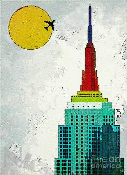 Empire State Building Digital Art - Going Away by Nishanth Gopinathan
