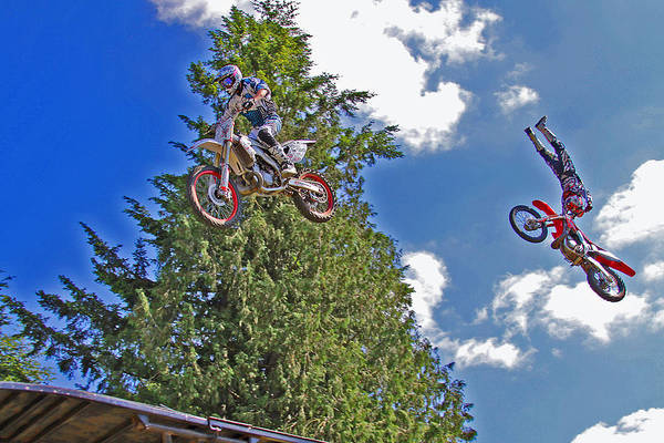 Dirtbike Photograph - Going Big by Brad Walters