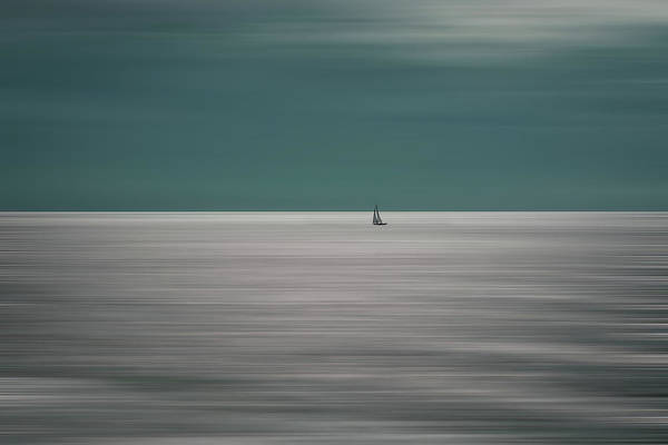 Sailing Photograph - Going For The Horizon by Bernardine De Laat