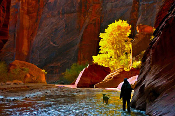 Native American Culture Painting - Going Home Again Canyon De Chelly National Park by Bob and Nadine Johnston