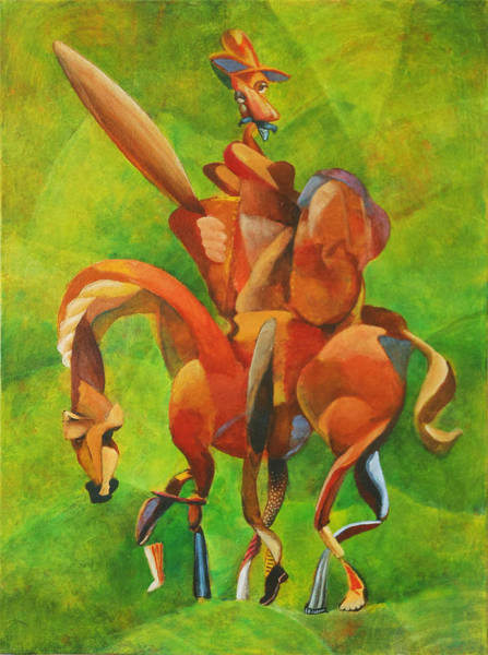 Man Of La Mancha Wall Art - Painting - Going Mad For No Reason by Michael Wilson