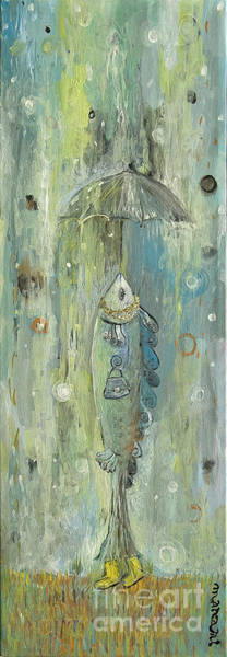 Rain Song Painting - Going Out by Manami Lingerfelt