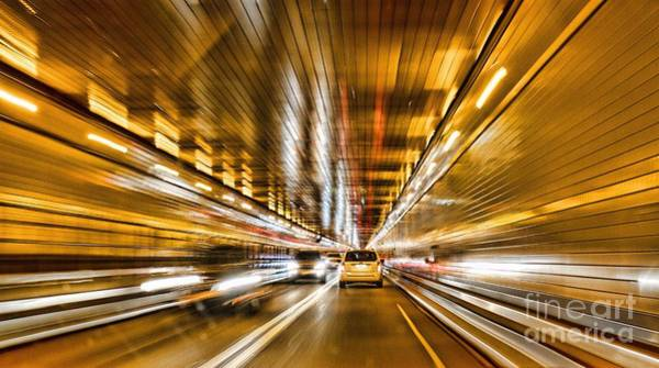 Photograph - Going Through The Lincoln Tunnel Nyc by Eleanor Abramson