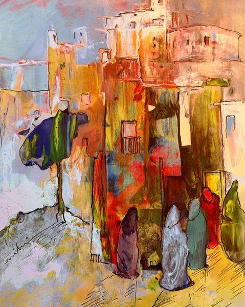 Painting - Going To The Medina In Morocco by Miki De Goodaboom