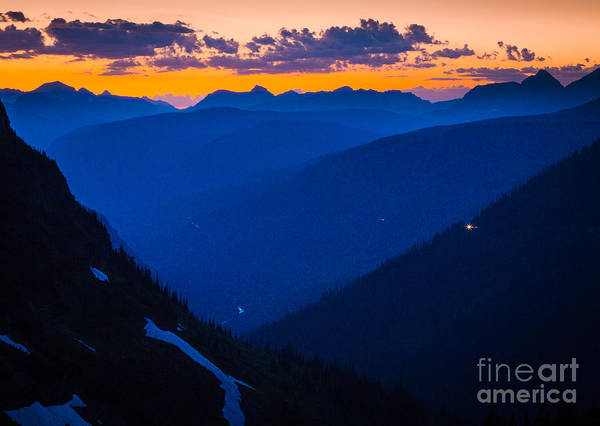 Nps Photograph - Going-to-the-sun Sunset by Inge Johnsson