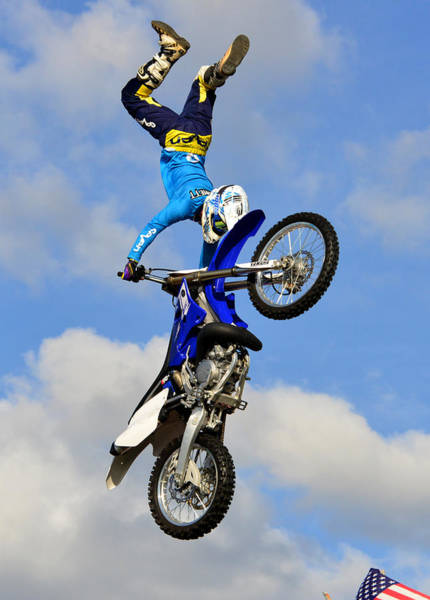 Dirt Bike Photograph - Going Vertical by David Lee Thompson