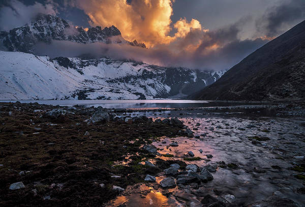 Wall Art - Photograph - Gokyo Fire by Karsten Wrobel
