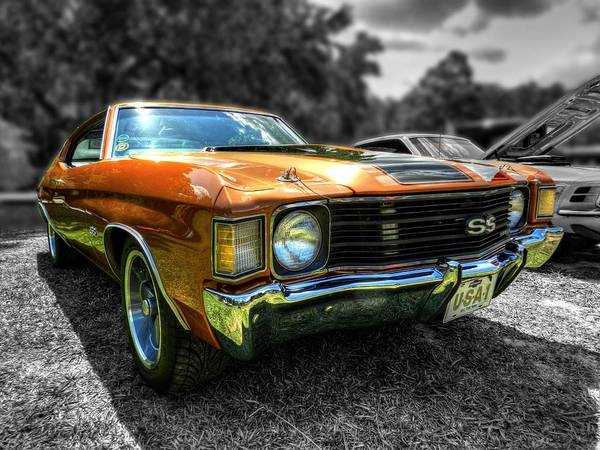 Photograph - Gold '72 Chevelle Ss 001 by Lance Vaughn