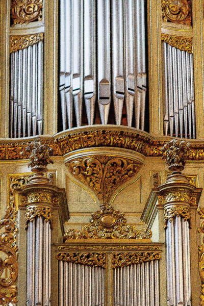 Photograph - Gold And Glitzy Organ by Jenny Setchell