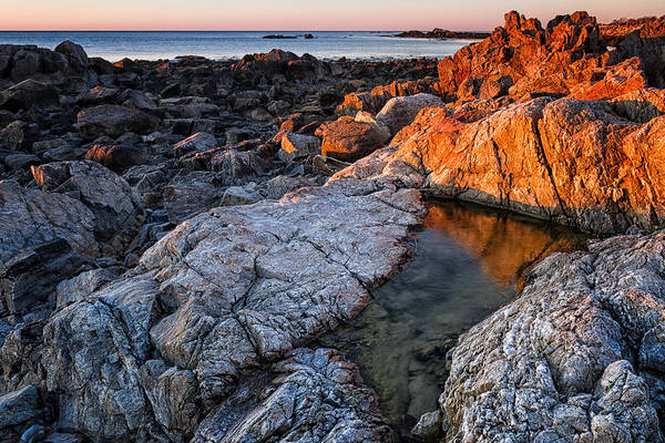 Photograph - Gold Coast First Light On The New Hampshire Coast by Jeff Sinon