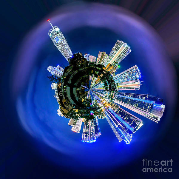 Beach City Photograph - Gold Coast Skyline 6 Circagraph by Az Jackson