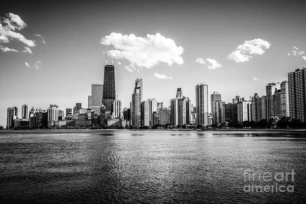 2012 Photograph - Gold Coast Skyline In Chicago Black And White Picture by Paul Velgos