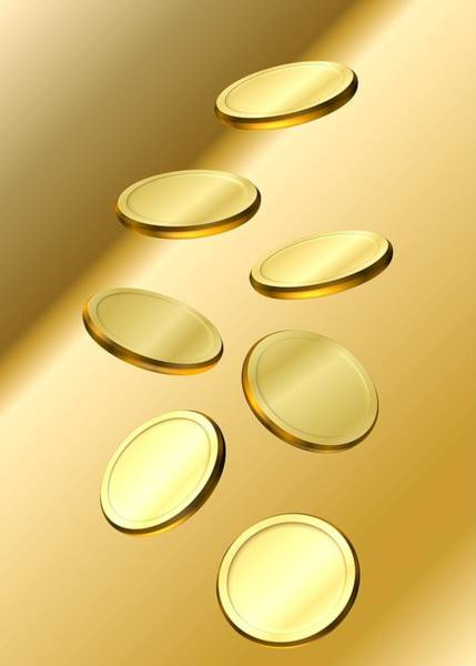 Digital Art - Gold Coins by Cyril Maza