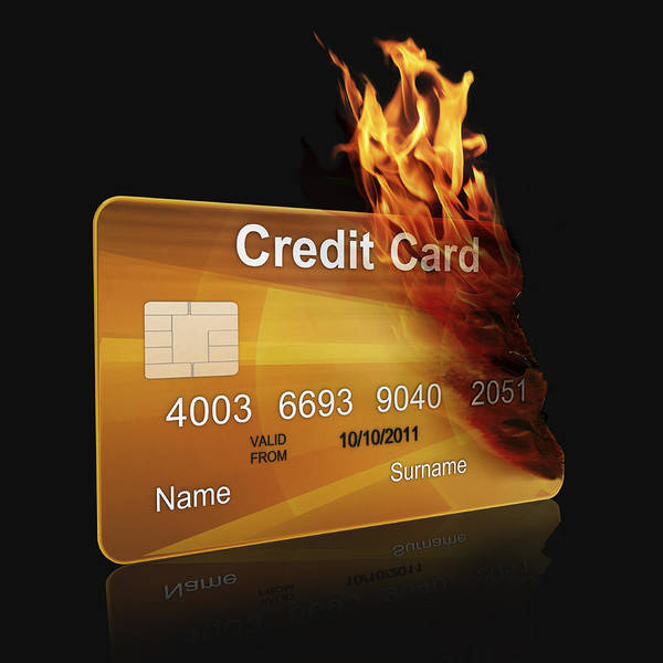 Wall Art - Photograph - Gold Credit Card Burning by Fanatic Studio / Science Photo Library