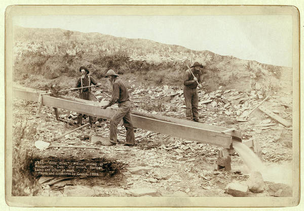 Gold Dust Photograph - Gold Dust. Placer Mining At Rockerville by Litz Collection