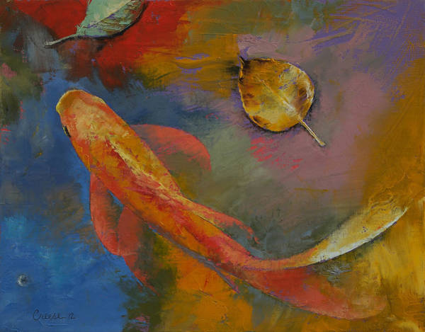 Wall Art - Painting - Gold Leaf by Michael Creese