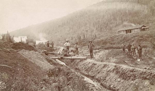 Wall Art - Photograph - Gold Mining In California by Library Of Congress