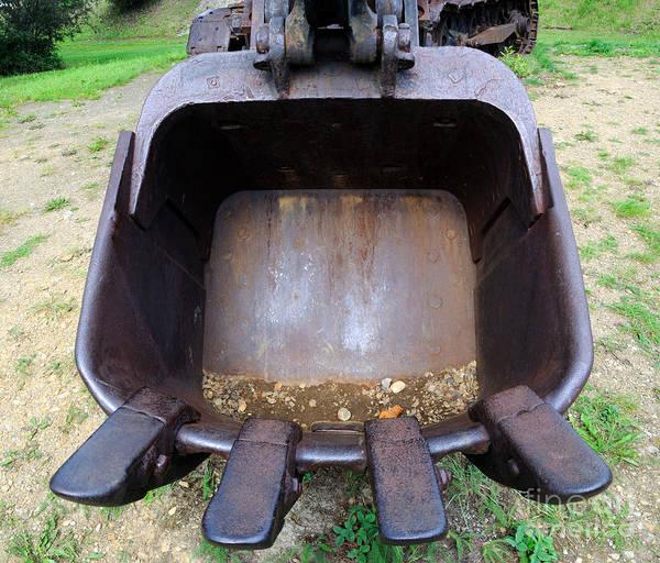 Metal Bucket Photograph - Gold Mining Steam Shovel Bucket Close-up by Gary Whitton