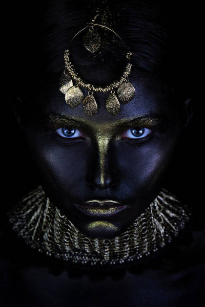 Face Paint Photograph - Gold Of Maya by Ivan Kovalev