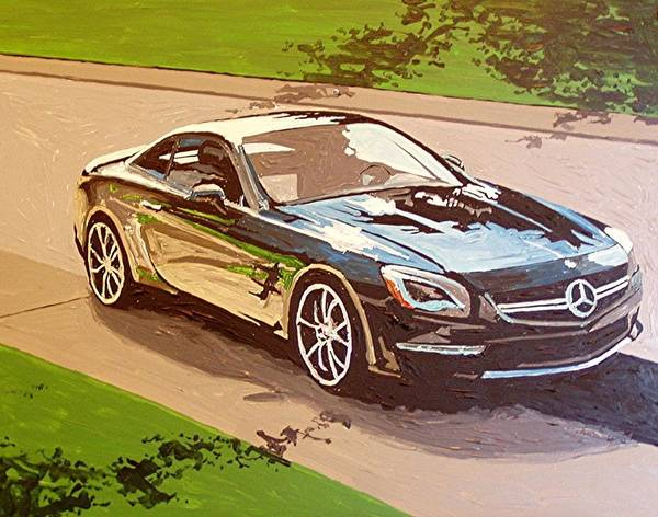 Wall Art - Painting - Gold River Mercedes by Paul Guyer