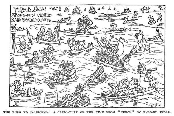 Forty Painting - Gold Rush British Cartoon by Granger