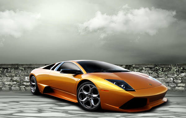 Supercars Digital Art - Gold Rush by Peter Chilelli
