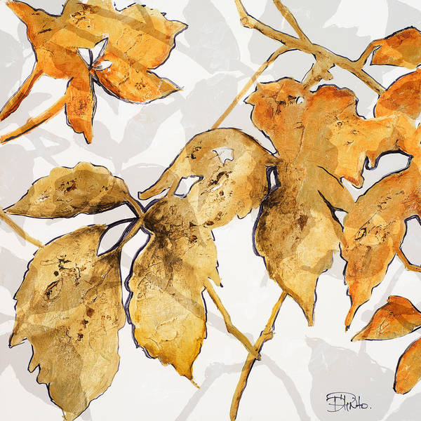 Color Mixed Media - Gold Shadows II by Patricia Pinto