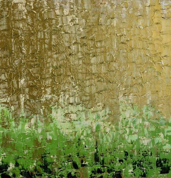 Gold Sky Green Grass Art Print