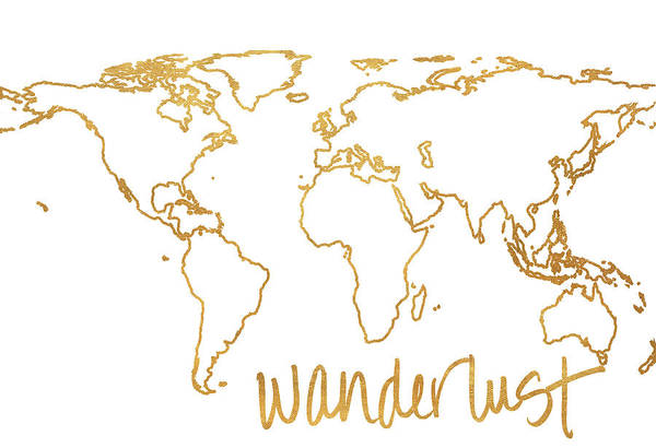Color Mixed Media - Gold Wanderlust by South Social Studio