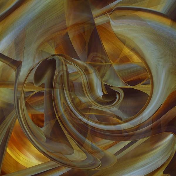 Digital Art - Golden Abstraction by rd Erickson