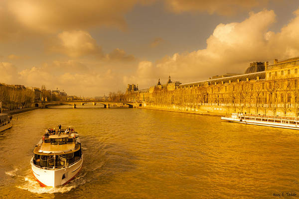 Photograph - Golden Afternoon On The Seine In Paris by Mark E Tisdale