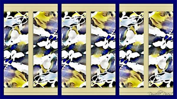 Painting - Golden And Lavender Nuance Abstract Alcohol Inks by Danielle  Parent