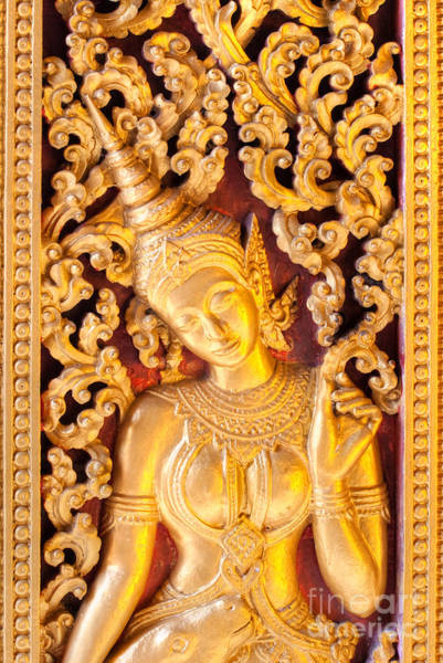 Wall Art - Photograph - Golden Apsara  by Luciano Mortula
