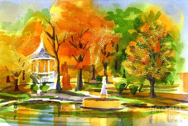 Painting - Golden Autumn Day 2 by Kip DeVore