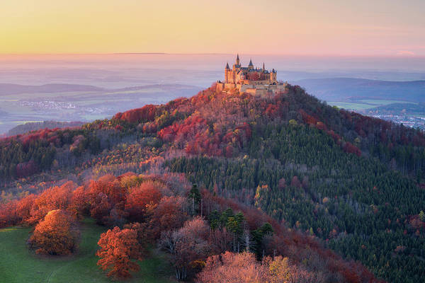 Castle Photograph - Golden Autumn Evening by Daniel F.