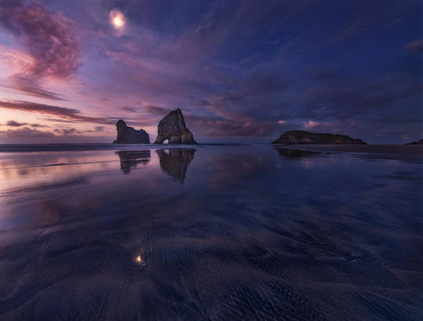 Wall Art - Photograph - Golden Bay When Night Falls by Yan Zhang