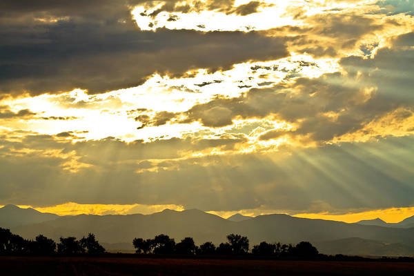 Wall Art - Photograph - Golden Beams Of Sunlight Shining Down by James BO Insogna