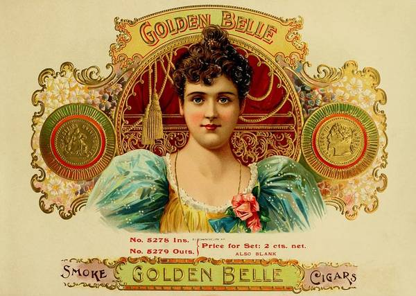 Painting - Golden Belle Vintage Cigar Advertisement by Movie Poster Prints