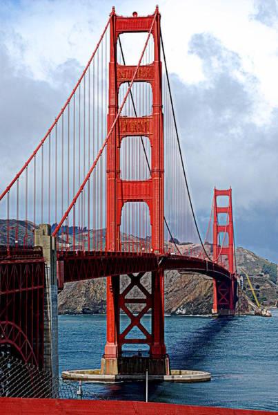 Brillante Photograph - Golden Bridge by HQ Photo