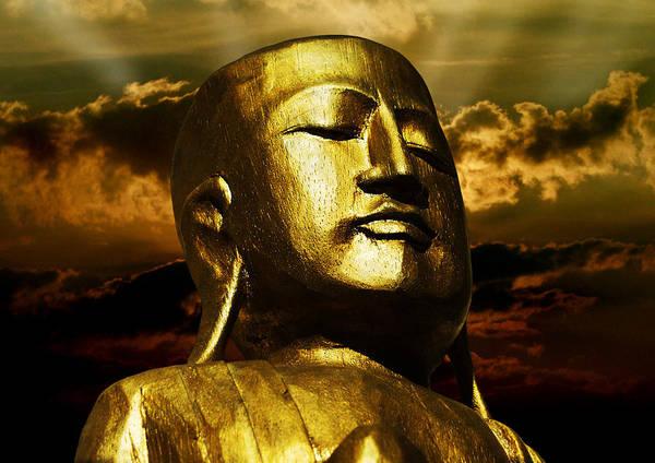 Compose Wall Art - Photograph - Golden Buddha by Joachim G Pinkawa