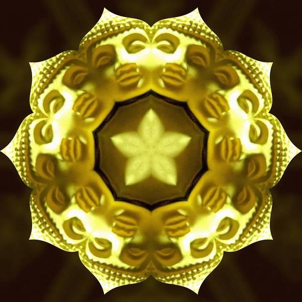 Photograph - Golden Buddha Star by Derek Gedney