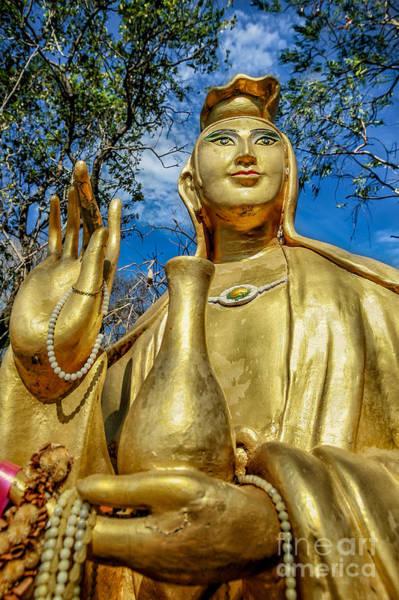 Buddha Statue Photograph - Golden Buddha Statue by Adrian Evans