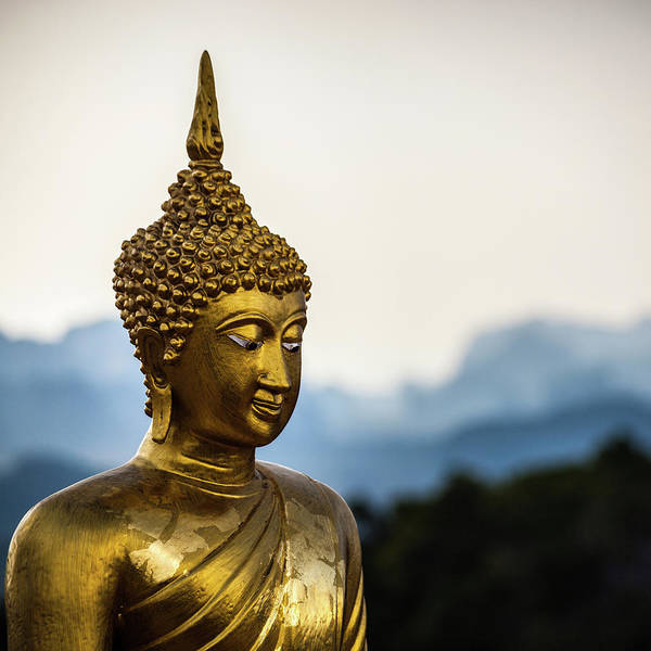 Statue Photograph - Golden Buddha Statue, Thailand by Moreiso